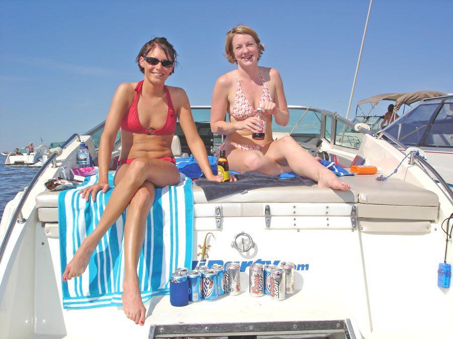 Boating Streichs Beach on Lake Winnebago July 2005 1