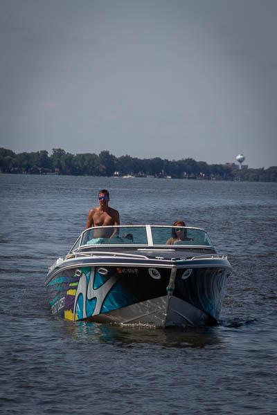 Boating Lake Winnebago July 25th Weekend 50