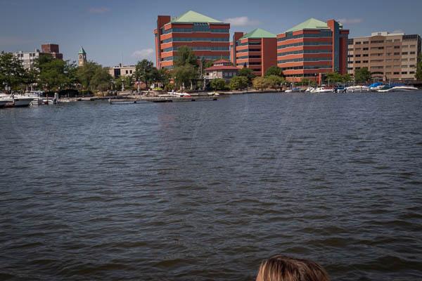 Boating up the Neenah River 49