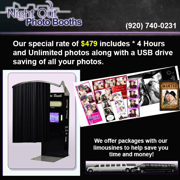 Night Out Photo Booth Rentals Appleton WI