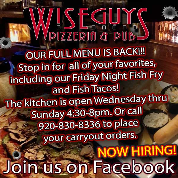 Wiseguys Pizzeria and Pub in Appleton WI